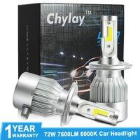 2pcs 6000K Car Headlight H7 LED H4 Hi Lo Beam H8 H9 H11 HB3 9005 HB4