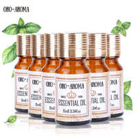 Marca famosa oroaroma violeta lótus camomila limão orégano bergamota óleos essenciais pacote para aromaterapia spa banho 10ml * 6