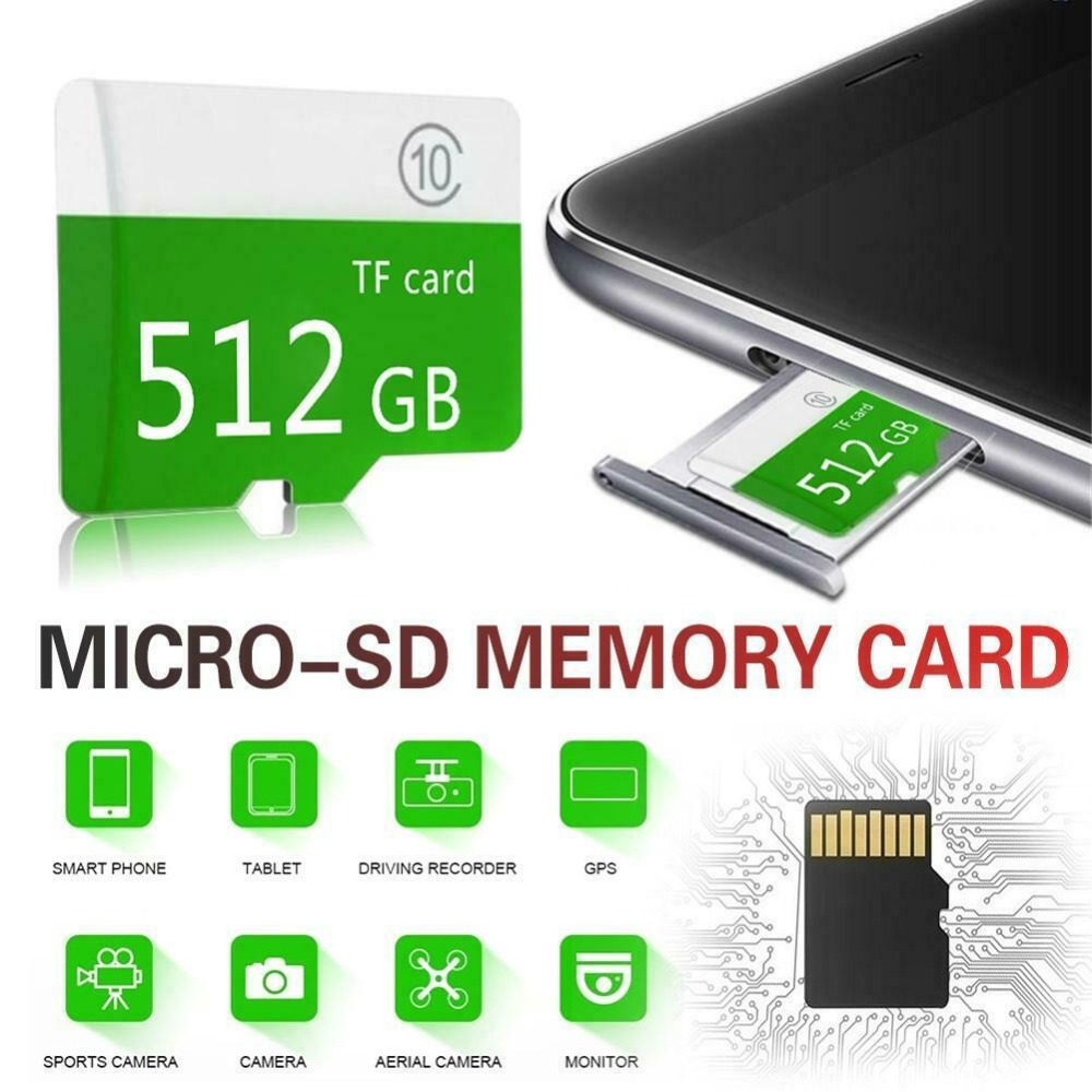Image 5 - High speed green Large Capacity Micro SD Memory Card 4GB 512GB Class 10+Sd Tf For Mobile / PC CH micro sd card SDXC/SDHC-in Micro SD Cards from Computer & Office
