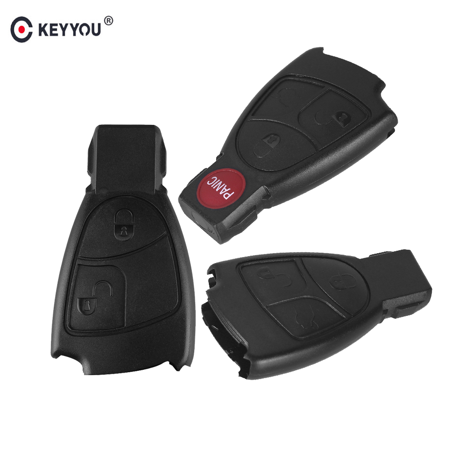 KEYYOU 20pcs Replacements 2 3 4 Buttons Remote Car Key Fob Case Cover Shell For Mercedes