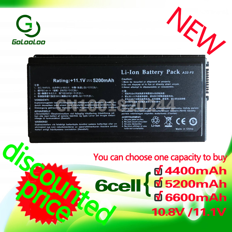 Golooloo Battery For ASUS X59GL A32-F5 X59 X59G X59S X59SL X59SR 90-NLF1B2000Y F5C F5N F5GL F5M F5R F5RI F5SL F5r F5V F5VI F5VL