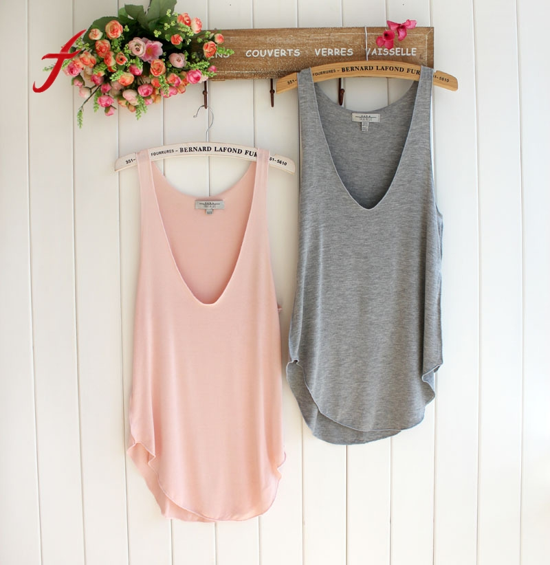 Fashion Women's Summer Trendy Loose Sleeveless V-Neck Vest Tank Tops Tee Shirt Lady  5 Colors 2017 Design Sexy Casual Hot Sale