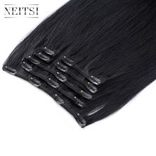 "Neitsi Straight Machine Made Remy Clip In On Hair Full Head 100% Human Hair Extensions 20"" 24"" 100g 7pcs 16 Clips 10 Colors(China)"