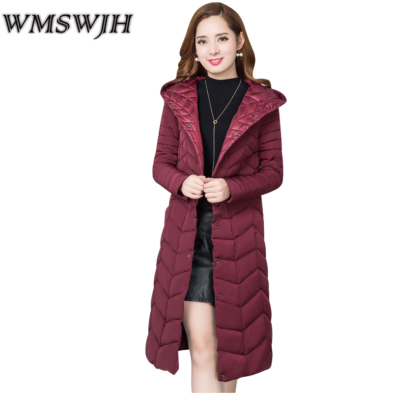 Winter Autumn Warm Coats 2017 Fashion Women Long Hooded Coat parkas Outerwear Big yards Slim Long sleeve Medium long jacket Coat winter students women coat new style loose big yards jacket long sleeve medium long hooded jacket thick cotton warm coats g2707