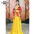 Женские hanfu костюм одежда Древний китайский стиль Хан Тан династии мин танец одежды танца folklorique chinois