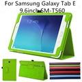 30 Шт./лот Для Samsung Galaxy Tab E 9.6 дюйма, тонкий Складной Чехол Чехол Для Samsung Galaxy Tab E 9.6 ''SM-T560 T561 Tablet