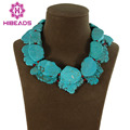 New Handmade Chokers Turquoise Statement Necklace Indian Fashion Necklace Chunky Style Jewelry TN084