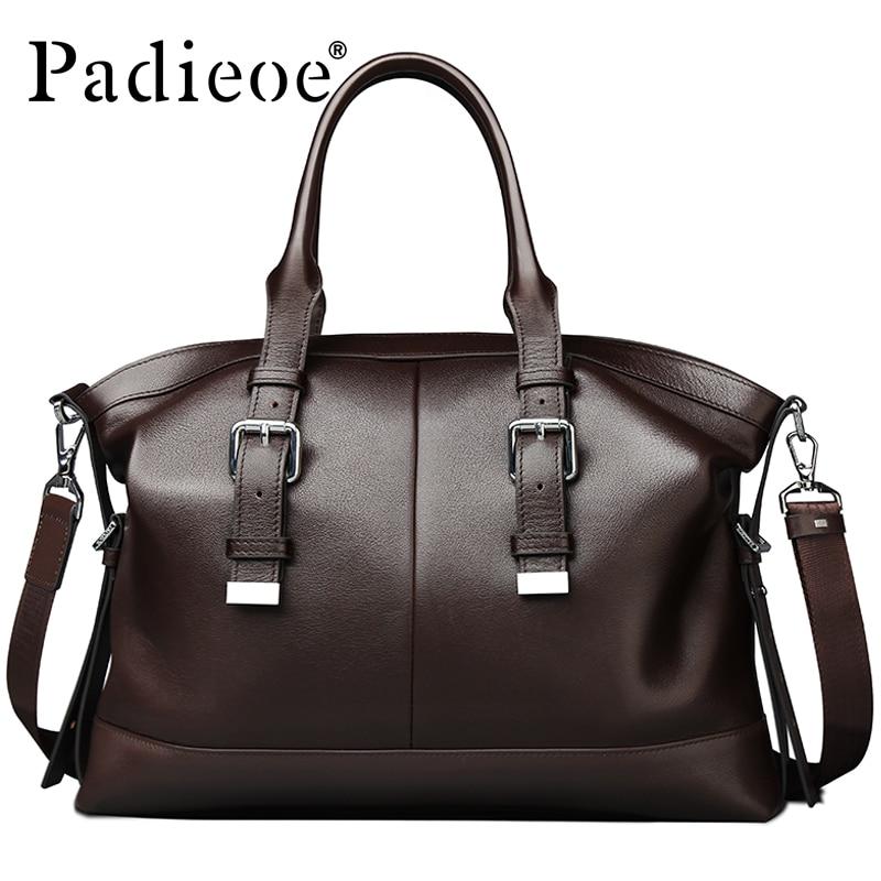 Padieoe Luxus Vintage Design Férfi táska Alkalmi táska Valódi - Kézitáskák