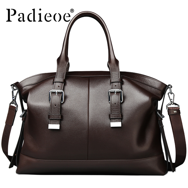 70b1a9a051d US $89.1 45% OFF|Padieoe Luxury Vintage Design Men's Briefcase Casual tote  Bag Genuine Leather Business Shoulder Bag Office Bags Durable Handbags on  ...
