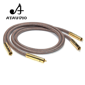 ATAUDIO Hifi RCA Cable Accuphase 40th Anniversary Edition OCC pure copper RCA Interconnect Audio Cable Gold plated plug