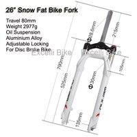 Excelli Snow Moutain Bike26 Fork Locking Shocking Fork Alumimium Alloy Fat Bike 26 Disc Brake Travel
