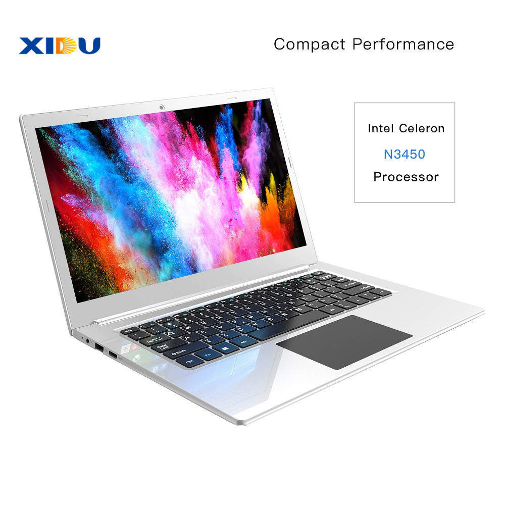 Image 2 - XIDU 12.5'' 2K 2560X1440IPS Laptop Intel Celeron N3450 Quad Core Tablet Processor 6GB 64GB Notebook Backlit Keyboard Windows10-in Laptops from Computer & Office