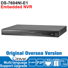 Hik NVR IP Digicam Community Video Recorder DS-7604NI-E1 ONVIF Surveillance Video Recorder NVR Unique Oversea Model