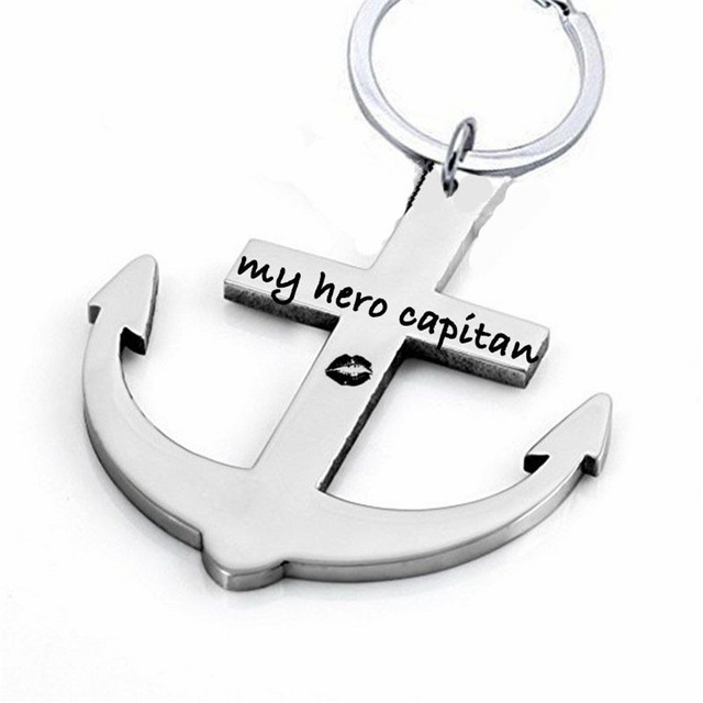 0a68c0e3404 Hand Stamped Custom Anchor Keychains For Dad/Boyfriend ,My Capitan My  Anchor Name Keychains