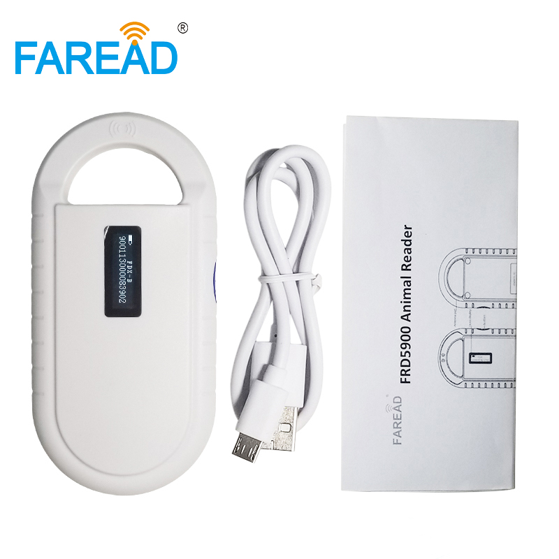 Free Shipping ISO11784/5 FDX-B Animal Pet ID Reader Chip Transponder USB RFID Handheld Microchip Scanner For Dog,cats,horse