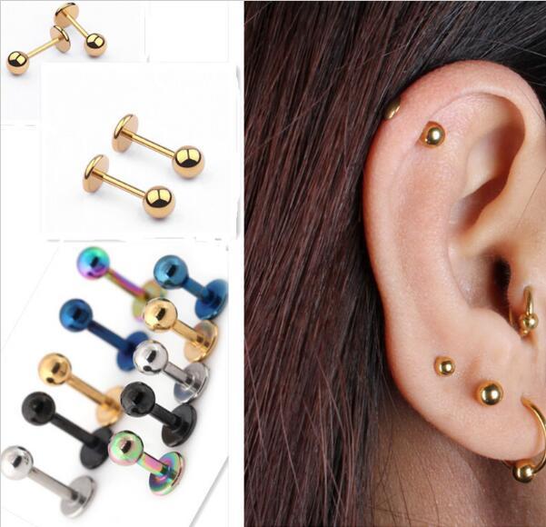 Fake Spirale Ear Piercing Wood Fake Piercing Earring Cheater Z436