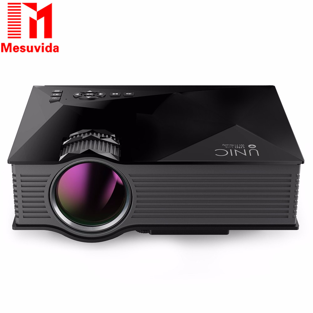 UNIC UC46 Portable Mini LED Projector WIFI Home Theater Multimedia Video Projector Full HD PC USB SD AV HDMI Proyector Beamer