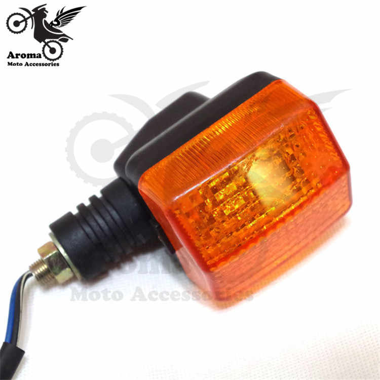 professional dirt pit bike orange lens motorbike indicator moto flashers for honda CBT125 CL125 motorcycle turn signal light