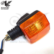 professional dirt pit bike orange lens motorbike indicator moto flashers for honda CBT125 CL125 motorcycle turn