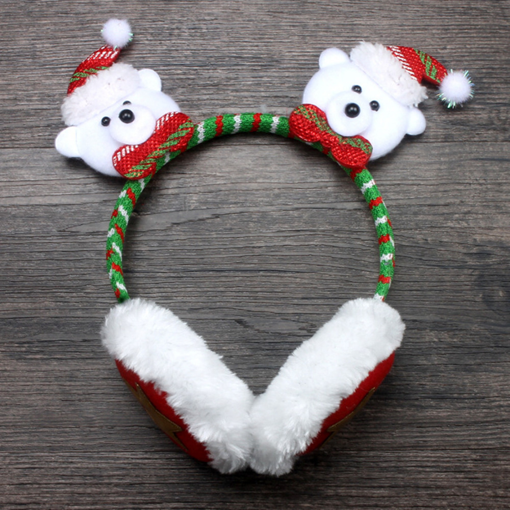 christmas headband red antlers santa claus snowman cute bear head buckle christmas gifts ornaments adult children in christmas hats from home garden on