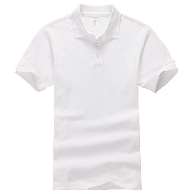 Европейский Размер Мужчины Рубашки Поло С Коротким Рукавом Хлопка Сплошной Поло homme CasualShirts Тройники Рубашки Бренд Мужской Топы Тис Плюс Размер S-3XL