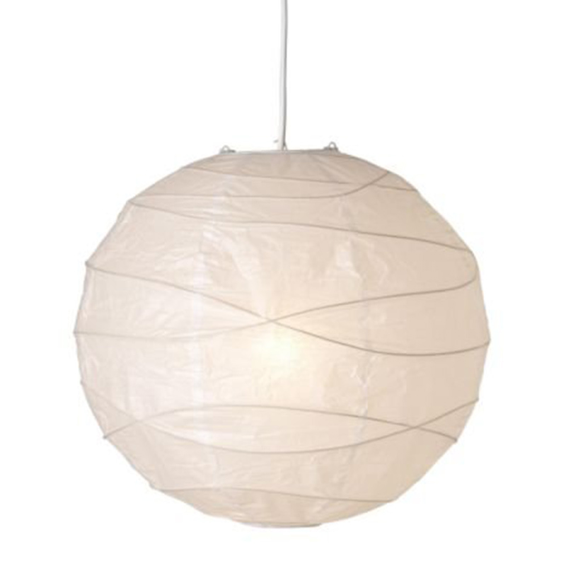 Hanging Lampshade, White, Paper, 45 X 45 X 45 Cm