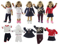 5 Set Doll Clothes For 18 American Girl Doll Handmade Casual Wear