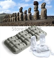 Free Shipping 1Piece Tiki Stone Cold Statue Ice Cube Tray Fun Novelty Bar Drinking Gift Statuesque