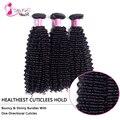 Vip красоты волос малайзии вьющиеся 7а необработанные девственные волосы курчавые вьющиеся 3 шт. много бесплатная доставка королева красотки weave ооо девы волос