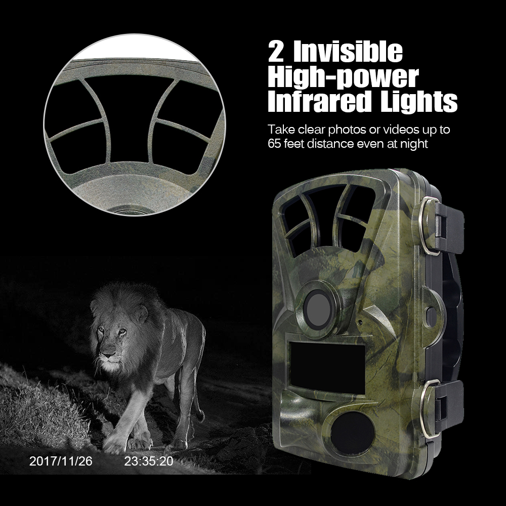 Hunting Trail Camera H885 HD 1080P Night Vision Scouting Camera Infrared Waterproof Wide Angle Wildlife Camera 6