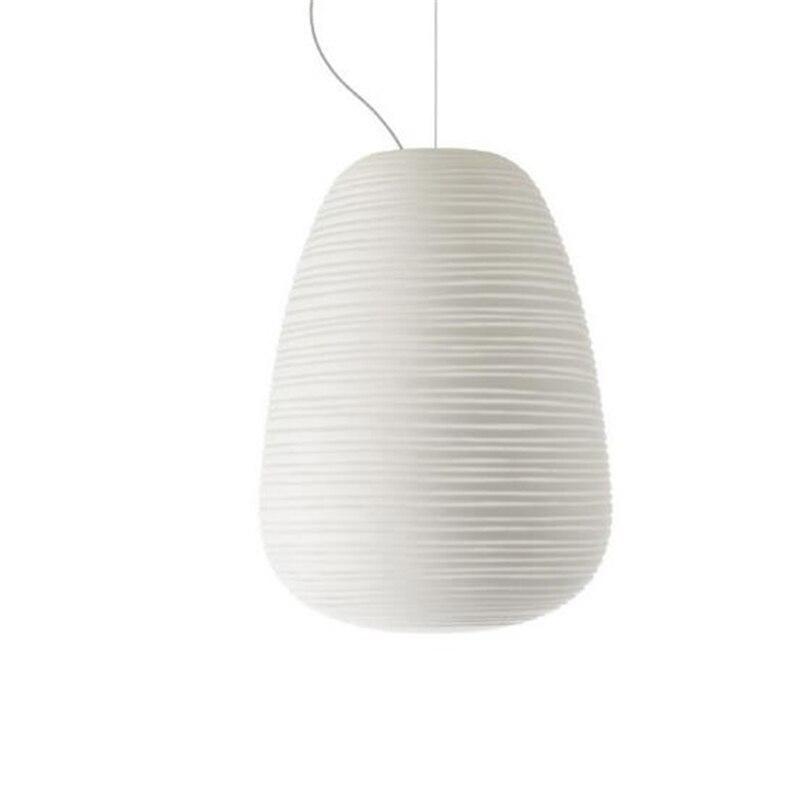 Vis créative nordique postmoderne filetée lustres en verre blanc Restaurants chambre blanc livraison gratuite - 5
