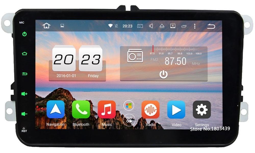 Android 6 Octa Core 2GB RAM Car DVD Player For VW Caddy Skoda Fabia Roomster Superb Praktik Octavia Yeti Seat Leon Altea Toledo