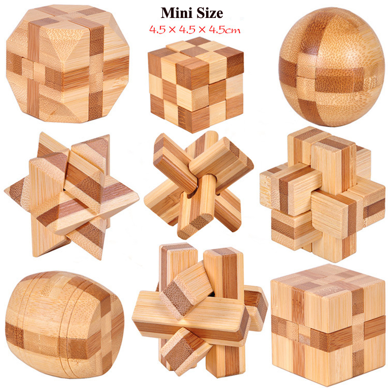 3D Interlocking Star Wooden Burr Puzzle Kong Ming Brain Teaser Intelligent Toy Children Educational Toys Kids Gift