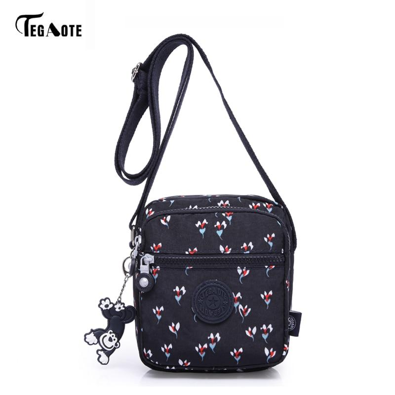TEGAOTE 2018 Women Messenger Bags Fashion Mini Bag With Monkey Crossbody Women Shoulder Bags Handbag Bolsos Cellphone Pouch
