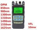 Fibra medidor de potencia óptica - 70 a + 10 dBm y 10 mw 10 km fibra óptica Cable Tester Visual Fault Locator