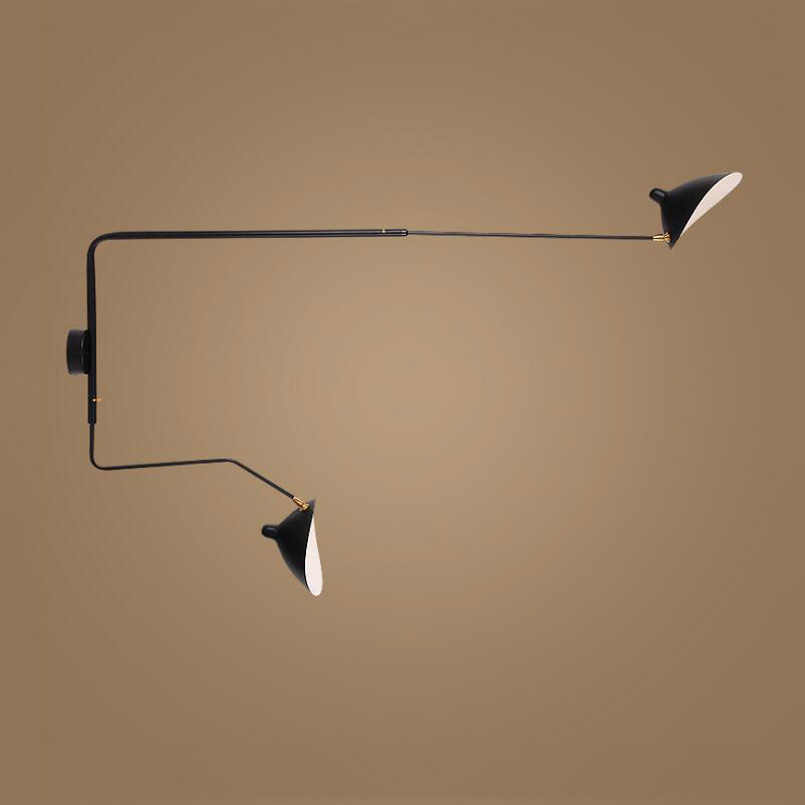 Nordic Creative Living Room hotel Bedroom light Retro loft Wall Lamp adjustable lampada rail project lamp arts wall sconce