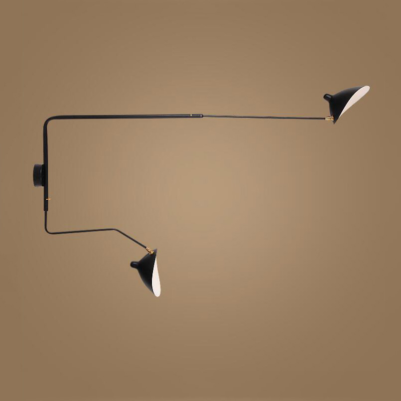 Nordic Creative Living Room hotel Bedroom light Retro loft Wall Lamp adjustable lampada rail project lamp arts wall sconce