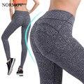 NORMOV S-XL 2 Colores de la Mujer Push Up Push Up Legging Leggings Entrenamiento Activo Algodón Leggings Delgado Leggings Tiempo Aventura mujeres