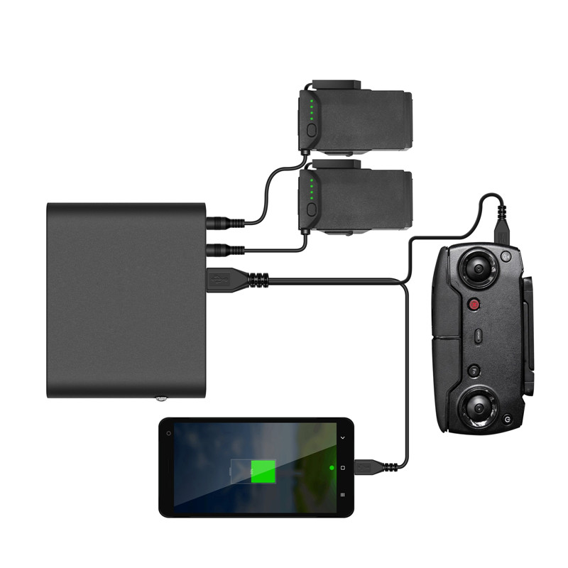 Mobile Power Bank Charger for DJI Mavic Air Drone Multi function 8000mah Portable USB Mobile Power For Battery Remote Control