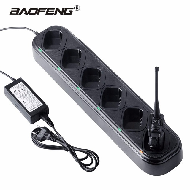2pcs Baofeng Uv 5r Charger Walkie Talkie 6 Way Station 48w Battery For
