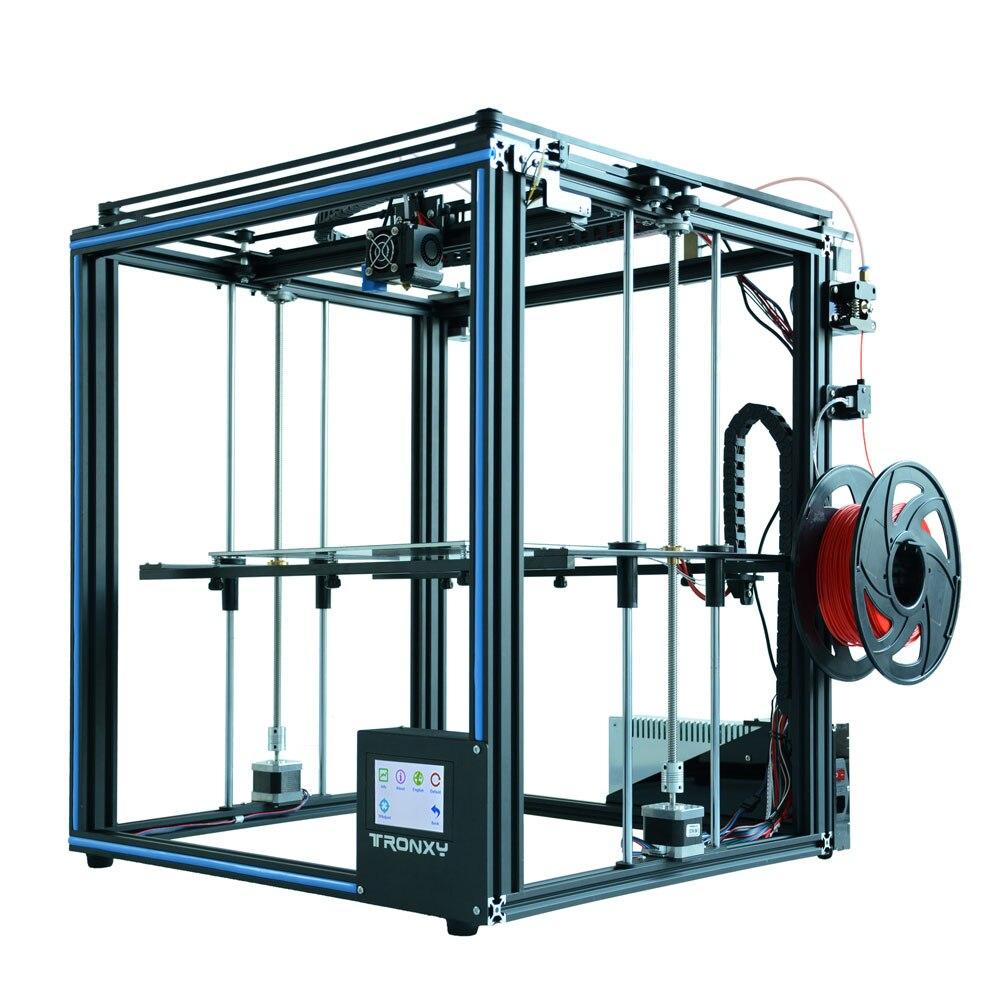Vendita calda Tronxy X5SA 3D Stampante kit FAI DA TE Completo di metallo 3.5 pollici Touch dello schermo di Alta precisione di livellamento Automatico PLA filamento come regalo