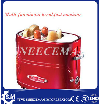 Home breakfast machine, automatic hot dog sausage bread machine, multi-function one-button breakfast machine hot dog toaster