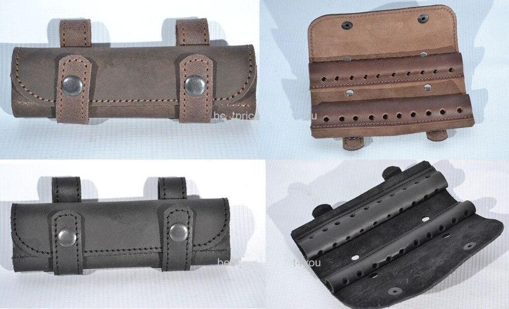 Titular de la munición Cartucho de Rifle Tourbon Bolsa de Cuero estilo Billetera De Lona /& balas de bucle de 6