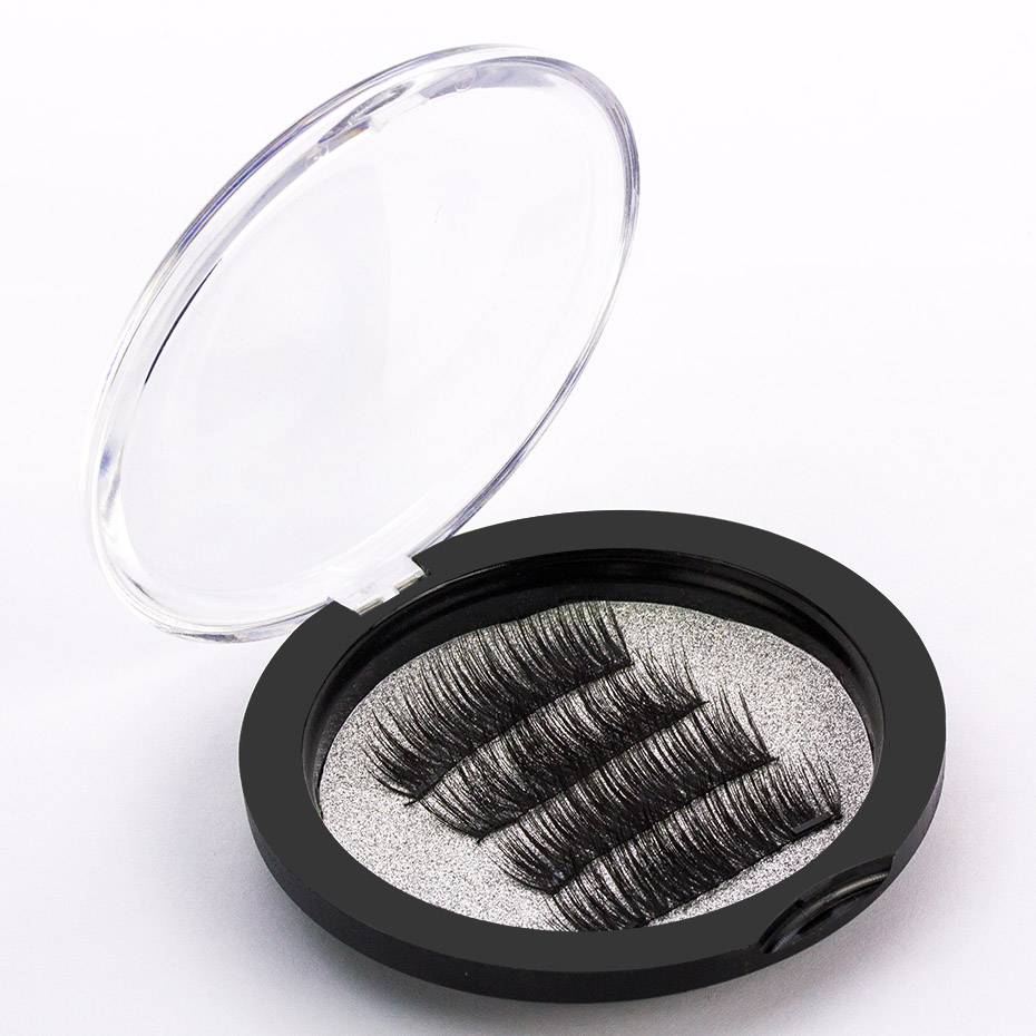 <font><b>Shozy</b></font> 0.2mm <font><b>Magnetic</b></font> Lashes 6D Magnet <font><b>Eyelashes</b></font> 4 Pcs/1 Pair Thick Fake <font><b>Eyelashes</b></font> extension with 2 pieces Magnet-KS04-S image