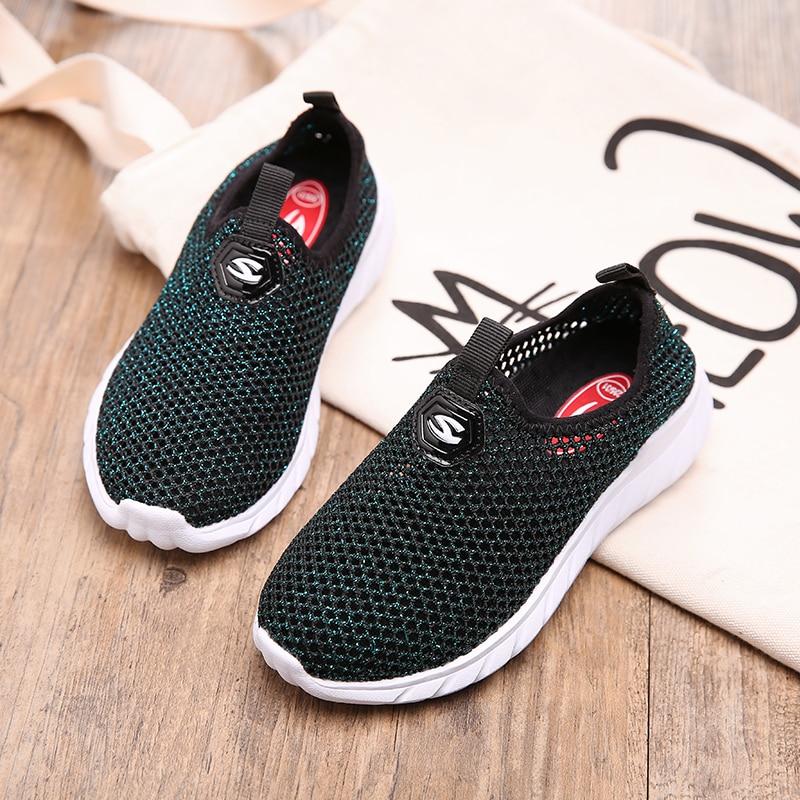 2018 nowych modnych butów sportowych do biegania dla dzieci mesh - Obuwie dziecięce - Zdjęcie 5