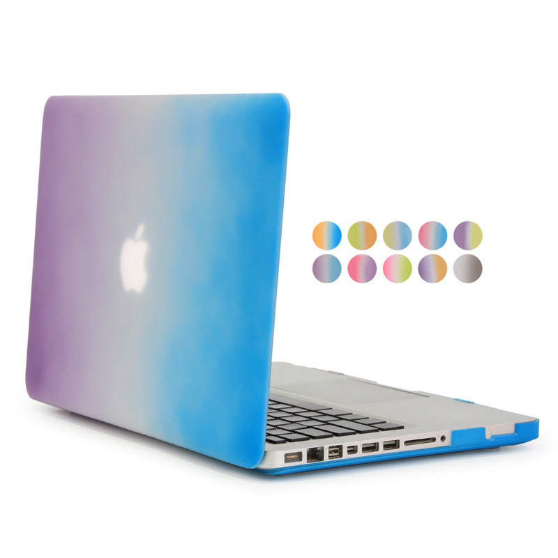 rainbow gradient case for macbook pro 13inch a1278 hard plastic for apple mac book pro 1 ...