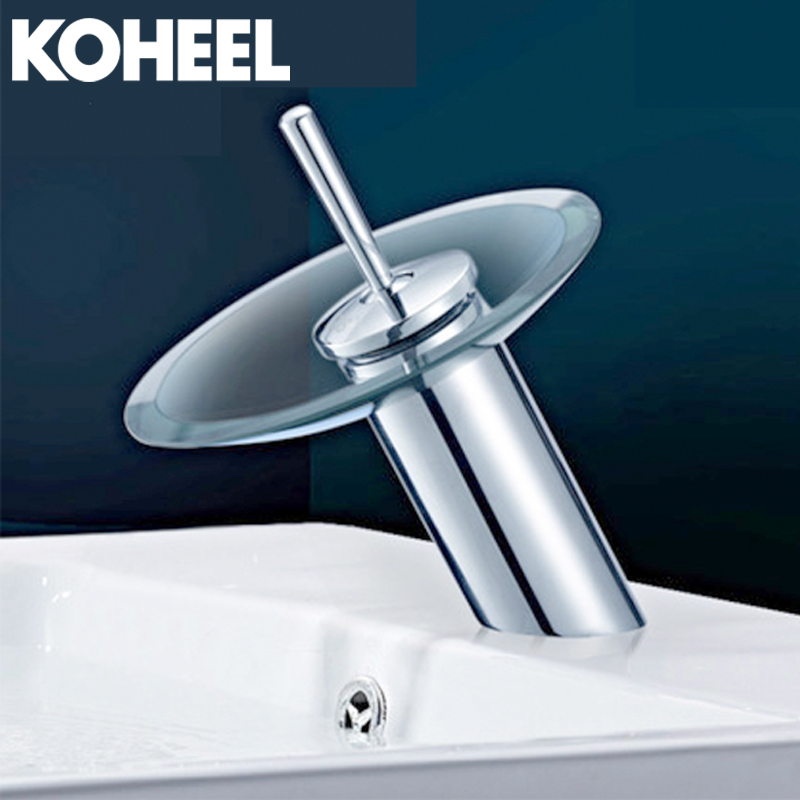 Bathroom Basin Mixer Tap Waterfall Faucet Sink Vessel Chrome Polished Finish Glass New Free Shipping free shipping polished chrome solid brass material bathroom sink waterfall square faucet