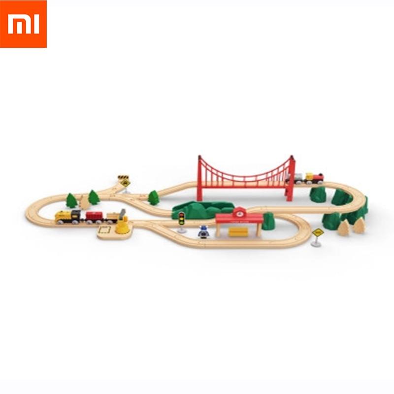 Original XiaoMi Mitu Orbit building electric train blocks Finger Spinner Gift For Kids Safety Portable Builder Smart Mini Toy цены онлайн