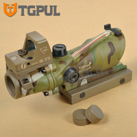 TGPUL RMR ACOG 4X32 Scope Green Or Red Crosshair Ballistic Reticle Red Dot Sight Combo 3