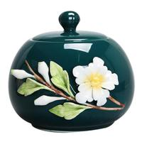 New Floral Tea Storage Jar Hand Painted Seal Chinese Style Caddy Teaware Accessories Vintage Canister Coffee Beans Caddies